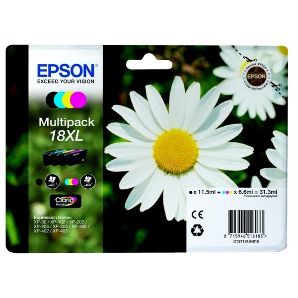 Epson Tintenpatrone MultiPack Bk,C,M,Y 18XL C13T18164010