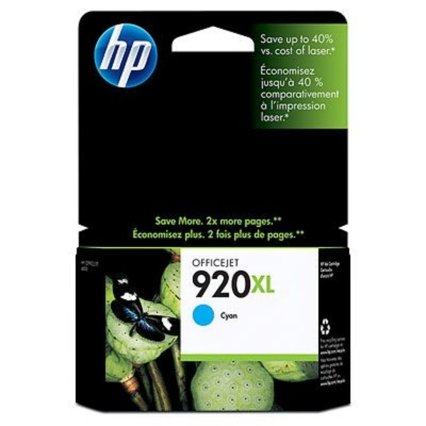 Hewlett Packard Tintenpatrone cyan 920 XL CD972AE