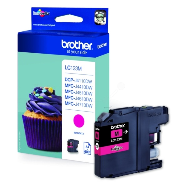 Brother Tintenpatrone magenta  LC123M