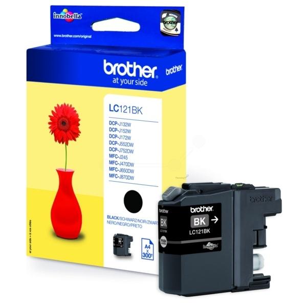 Brother Tintenpatrone schwarz  LC121BK